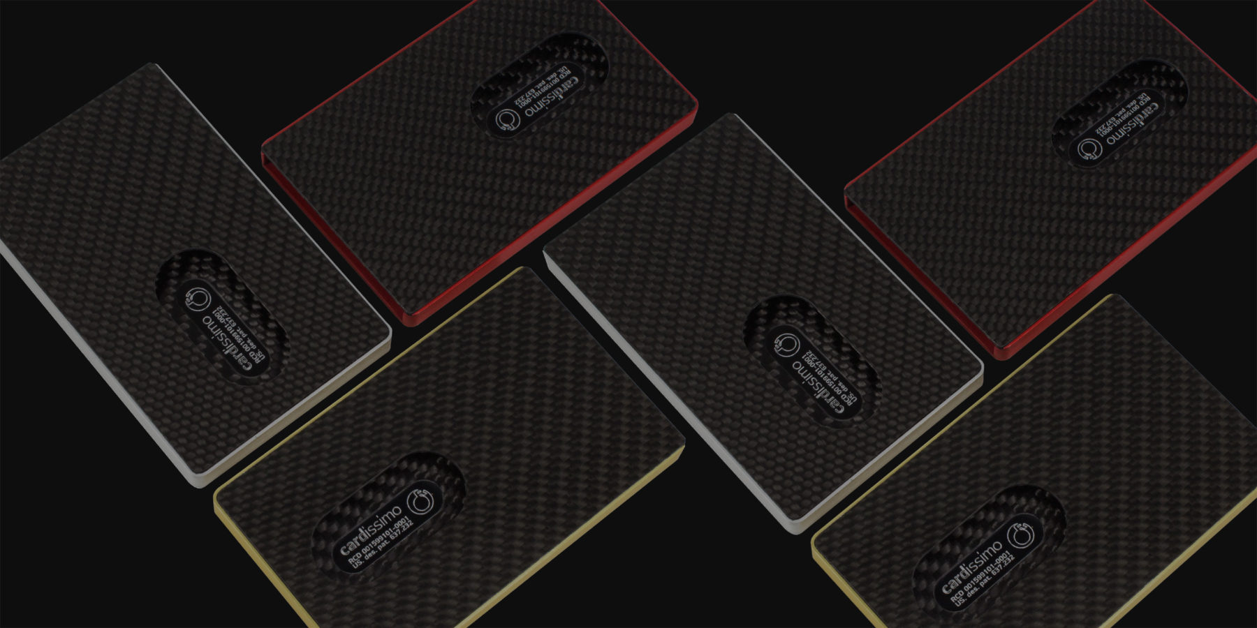 Cardissimo Carbon Fibre Card Case Collection