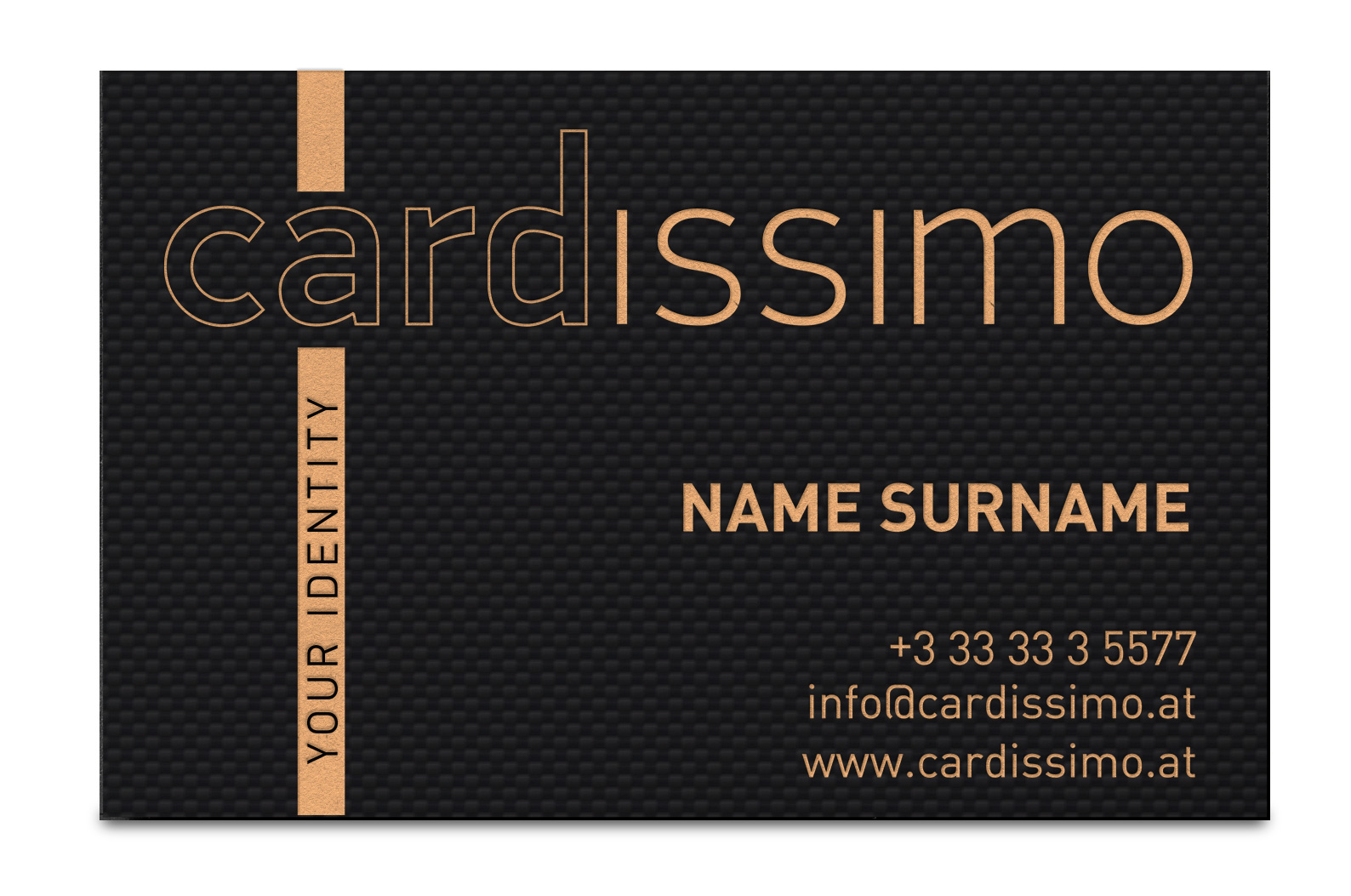 Carbon fibre business cards cardissimo your identity carbon fibre business card bronze fine reheart Gallery