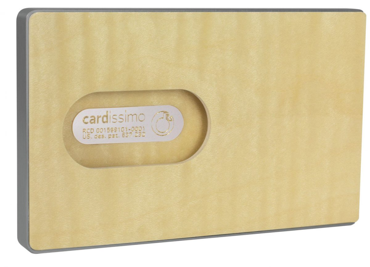 Cardissimo-Card-Case-Flamed-Maple-Grey