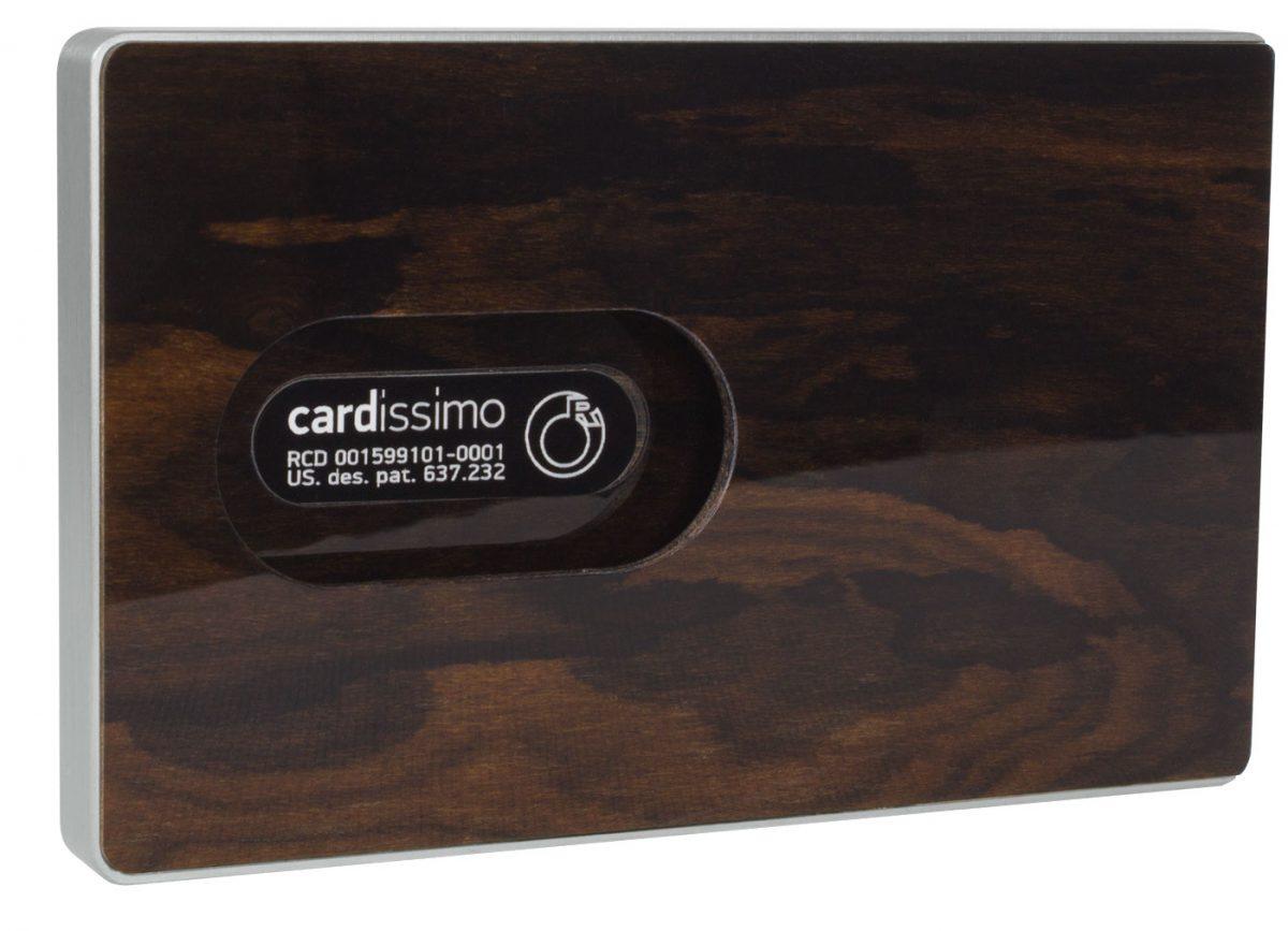 Cardissimo-Card Holder Dark Ziricote Silver