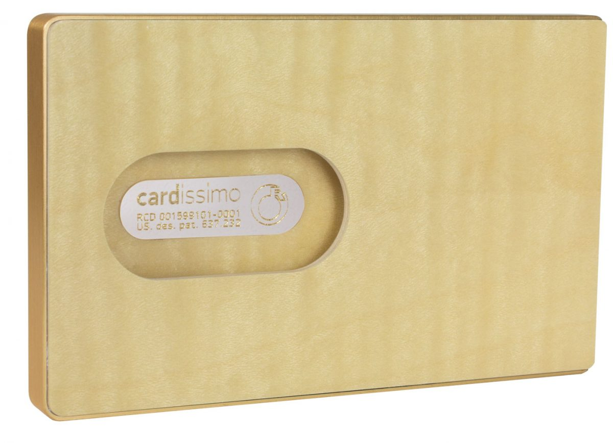 Cardissimo Card Holder Flamed-Maple-Gold