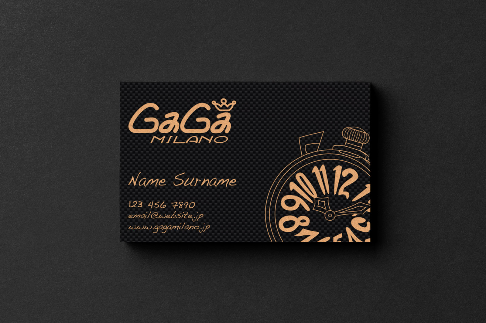 Gaga-Milano-Cardissimo-Carbon-Fibre-Business-Card