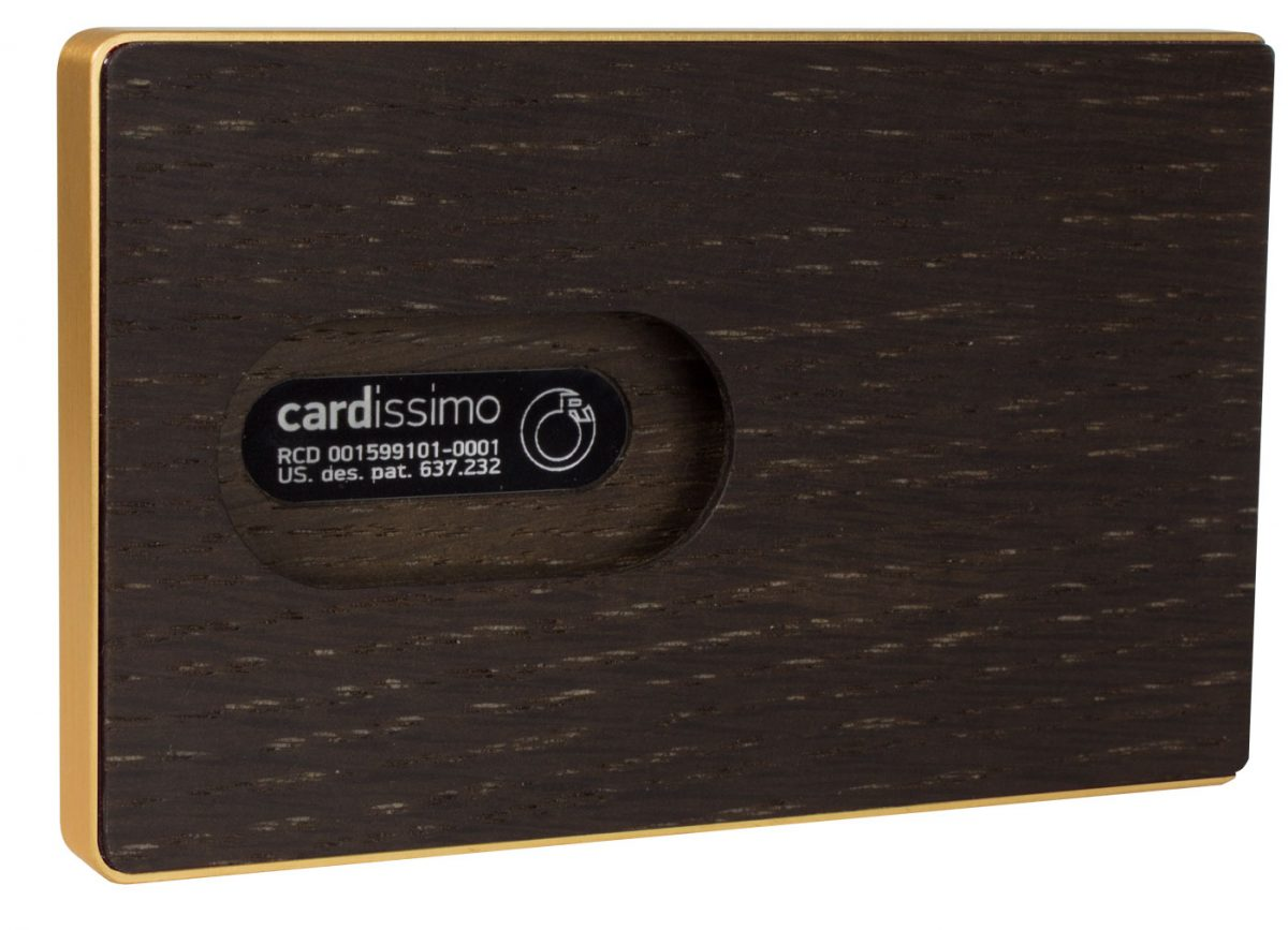 Amazaque Card Case Gold